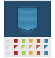 Ribbons and tags vector