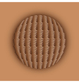 Weaved ball vector