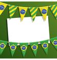 Brazil party card vector