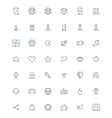 Thin line game icons set for web and mobile apps vector