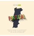 Portugal map in flat design portuguese vector