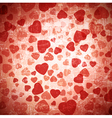 Red heart grunge background vector