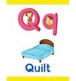 Learning alphabet q vector