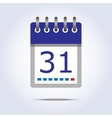 Simple calendar icon vector