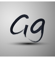 Calligraphic hand-drawn marker or ink letter g vector