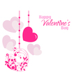 Valentine beautiful designer hearts background vector