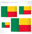 Benin flag template vector
