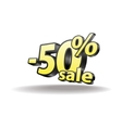 Fifty percent discount icon on white background vector