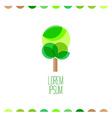Tree flat colors logo template vector