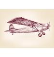 Plane hand drawn llustration realistic sketch vector