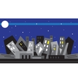 Night city - vector