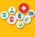 Set colorful medical icons for your design - vector