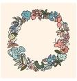 Garden doodls frame vector