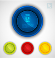 Round colorful icons set vector