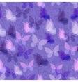Seamless pattern transparent butterflies vector