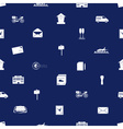 Post and mail seamless blue and white pattern vector