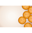 Empty template with biscuits vector