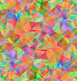 Colorful pattern with chaotic triangles vector