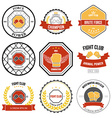 Set of mixed martial arts labels badges vector