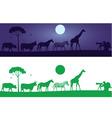 Beautiful wild animals wall decal vector