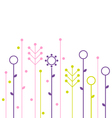 Simple abstract spring flowers design vector