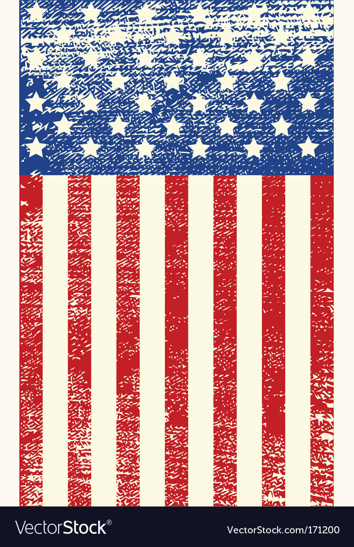 American grunge flag vector | Price: 1 Credit (USD $1)