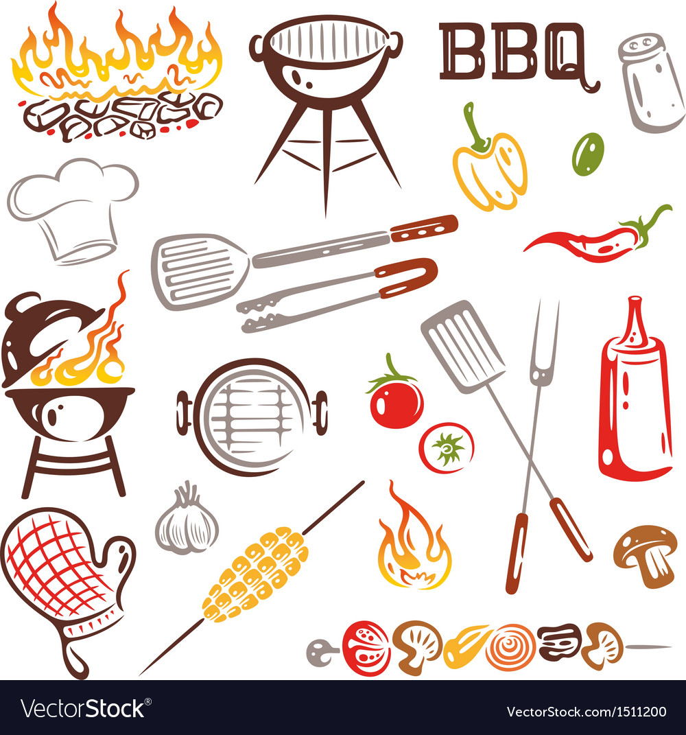 Bbq barbecue vector | Price: 1 Credit (USD $1)