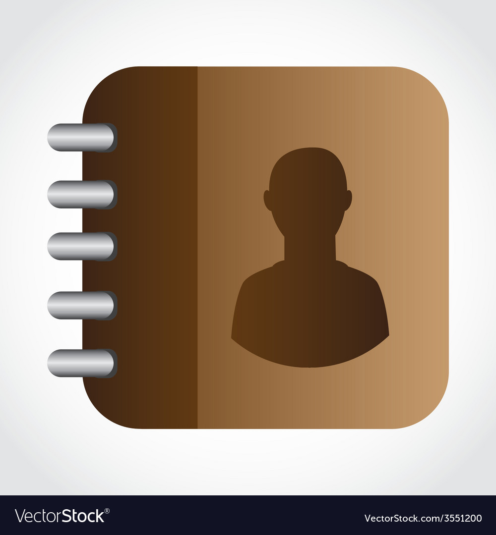 Contacts book design vector | Price: 1 Credit (USD $1)