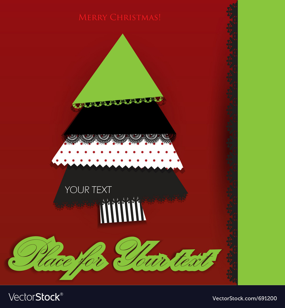 Creative christmas tree made from pieces of colorf vector | Price: 1 Credit (USD $1)