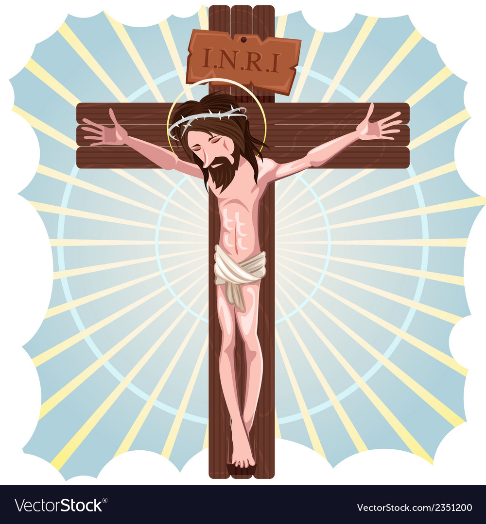 The crucifixion of jesus christ vector | Price: 1 Credit (USD $1)