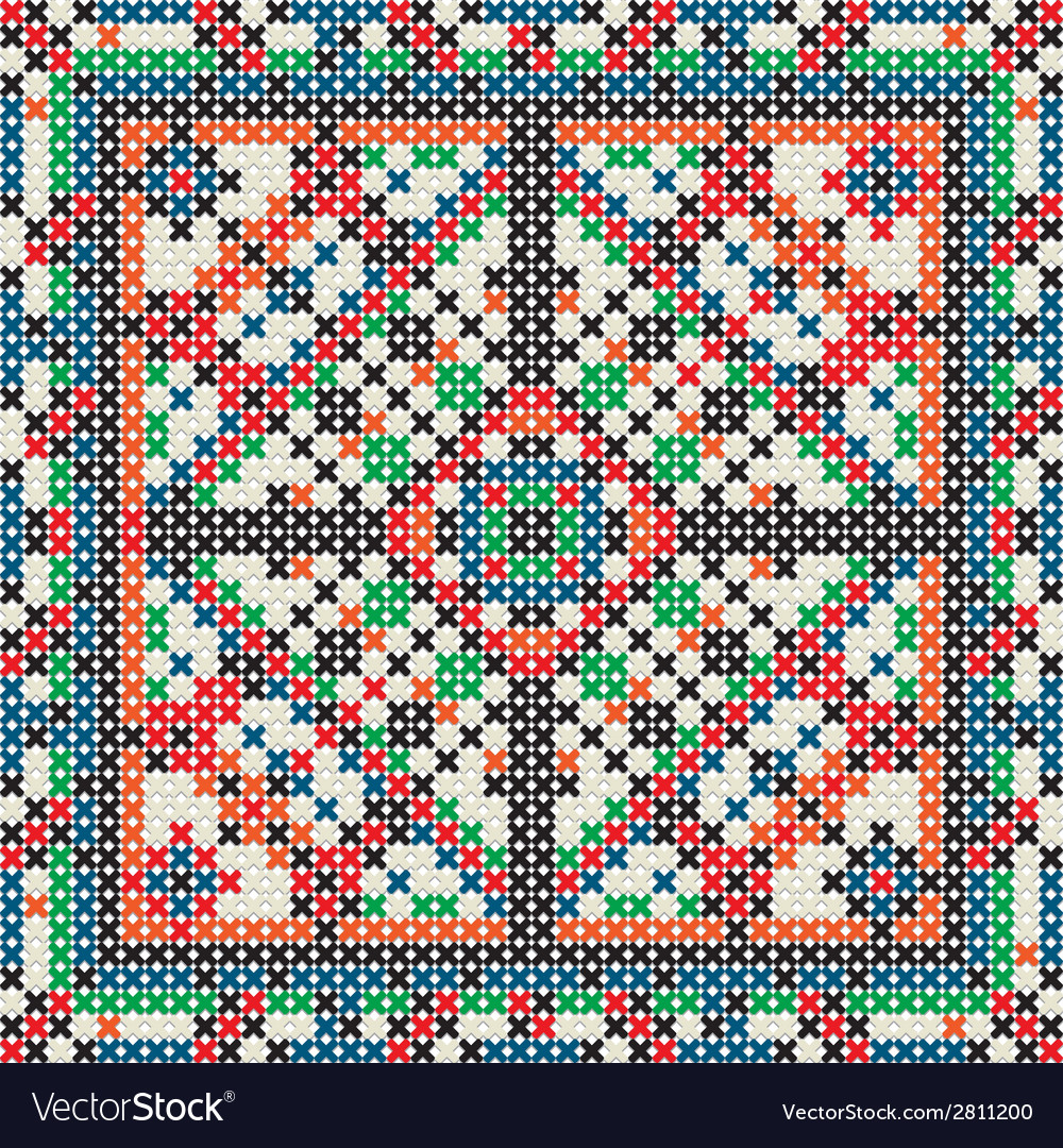 Decorative knit tile vector | Price: 1 Credit (USD $1)