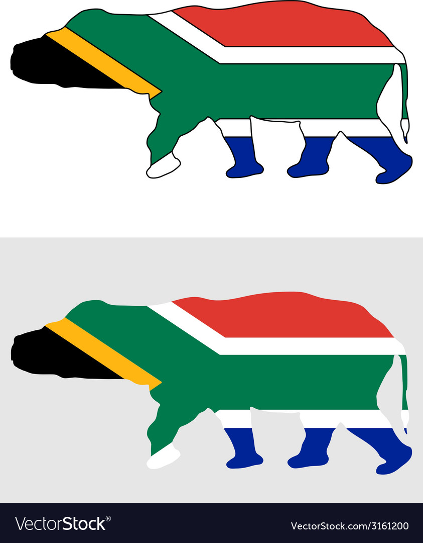 Hippo south africa vector | Price: 1 Credit (USD $1)