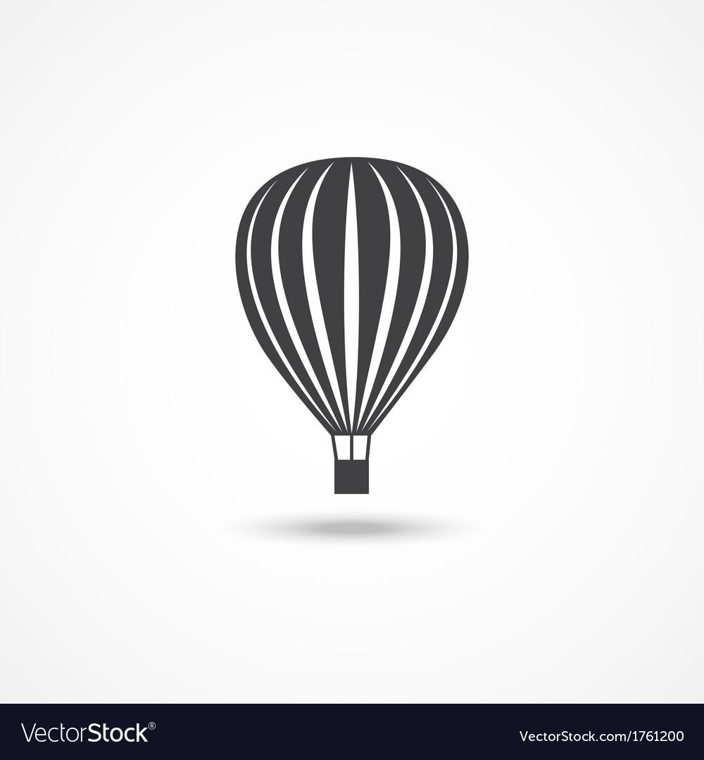 Hot air balloon icon vector | Price: 1 Credit (USD $1)