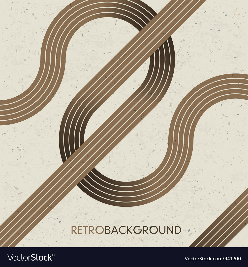 Intersection retro lines vector | Price: 1 Credit (USD $1)