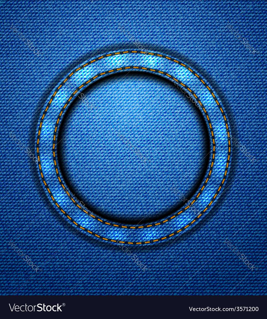 Jeans circular patch vector | Price: 1 Credit (USD $1)
