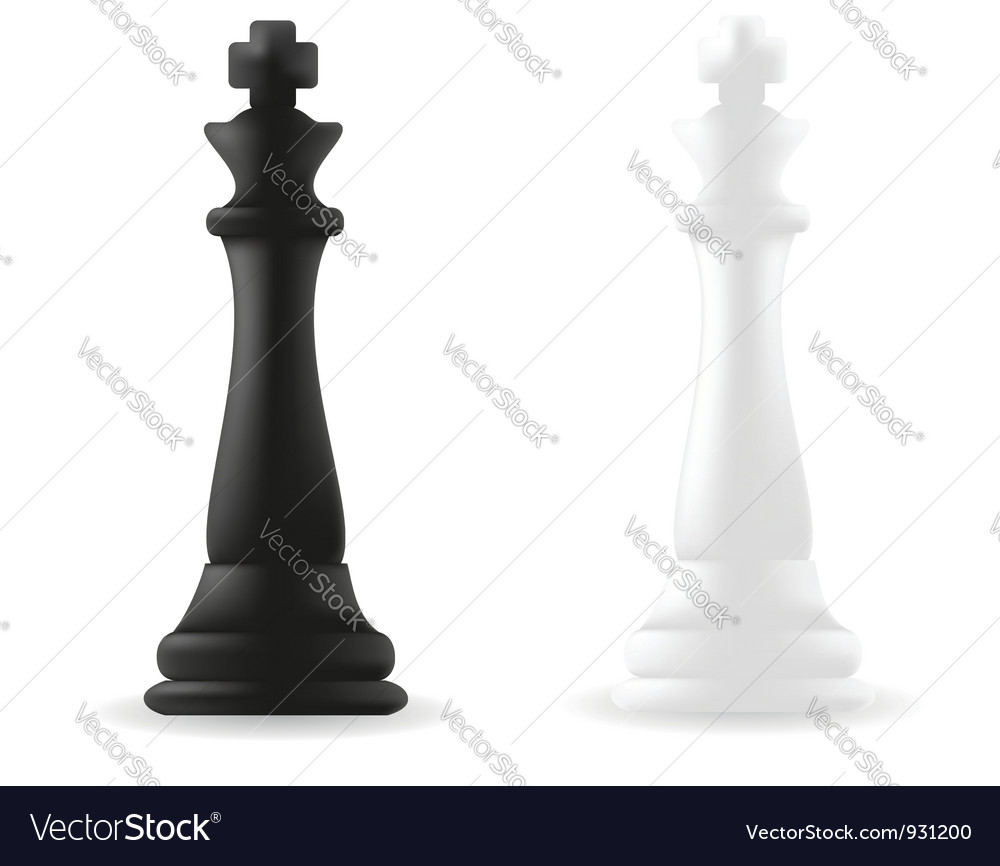 King chess piece black and white vector | Price: 1 Credit (USD $1)