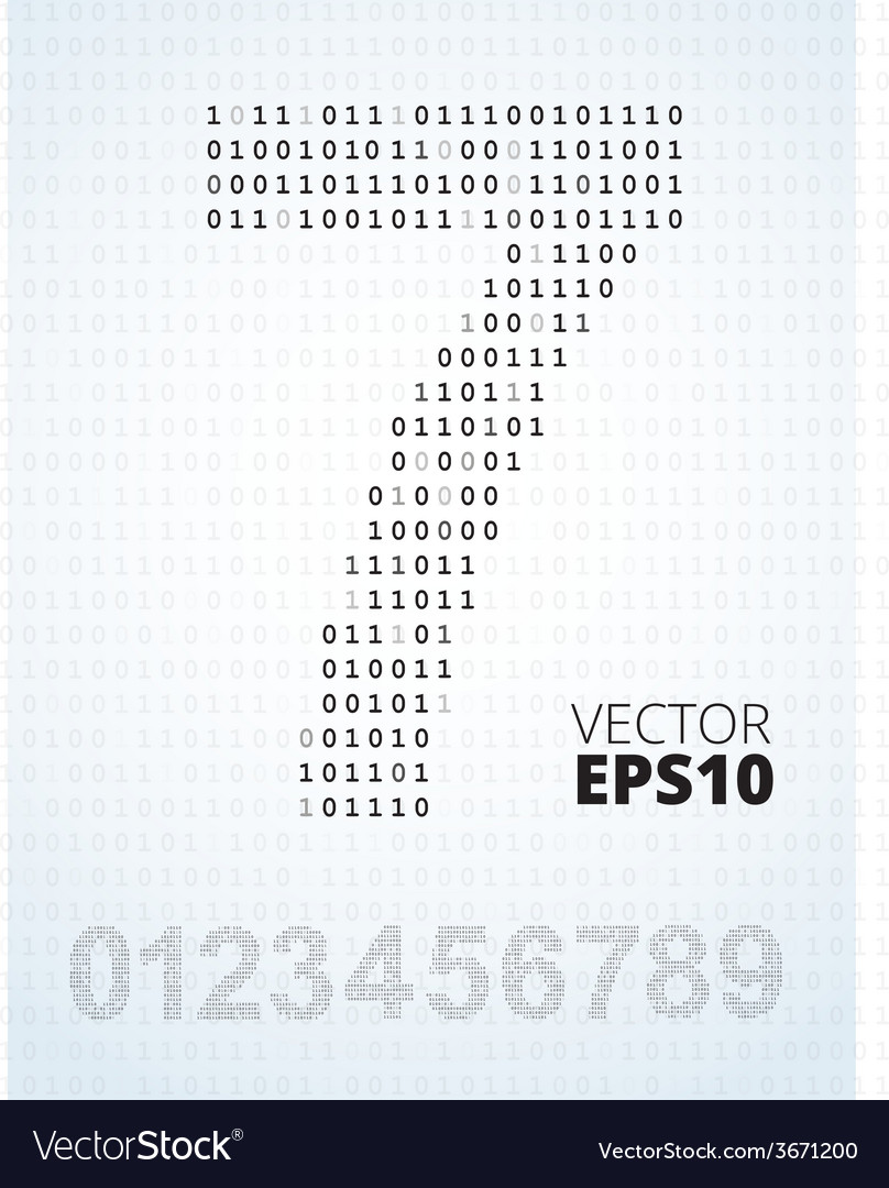 Number 0-9 alphabet from binary code vector | Price: 1 Credit (USD $1)
