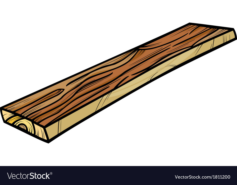 Plank or board cartoon clip art vector | Price: 1 Credit (USD $1)