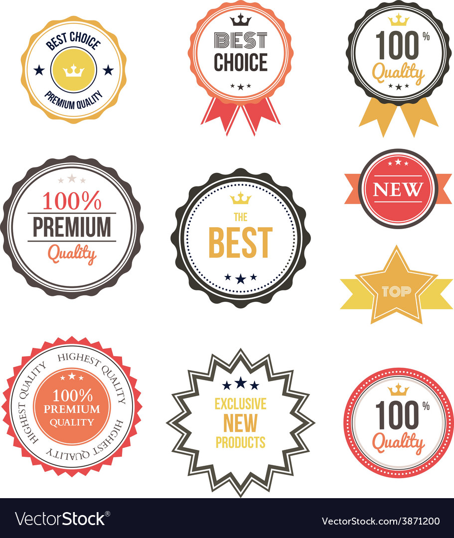 Premium quality best choice labels set isolated vector | Price: 1 Credit (USD $1)