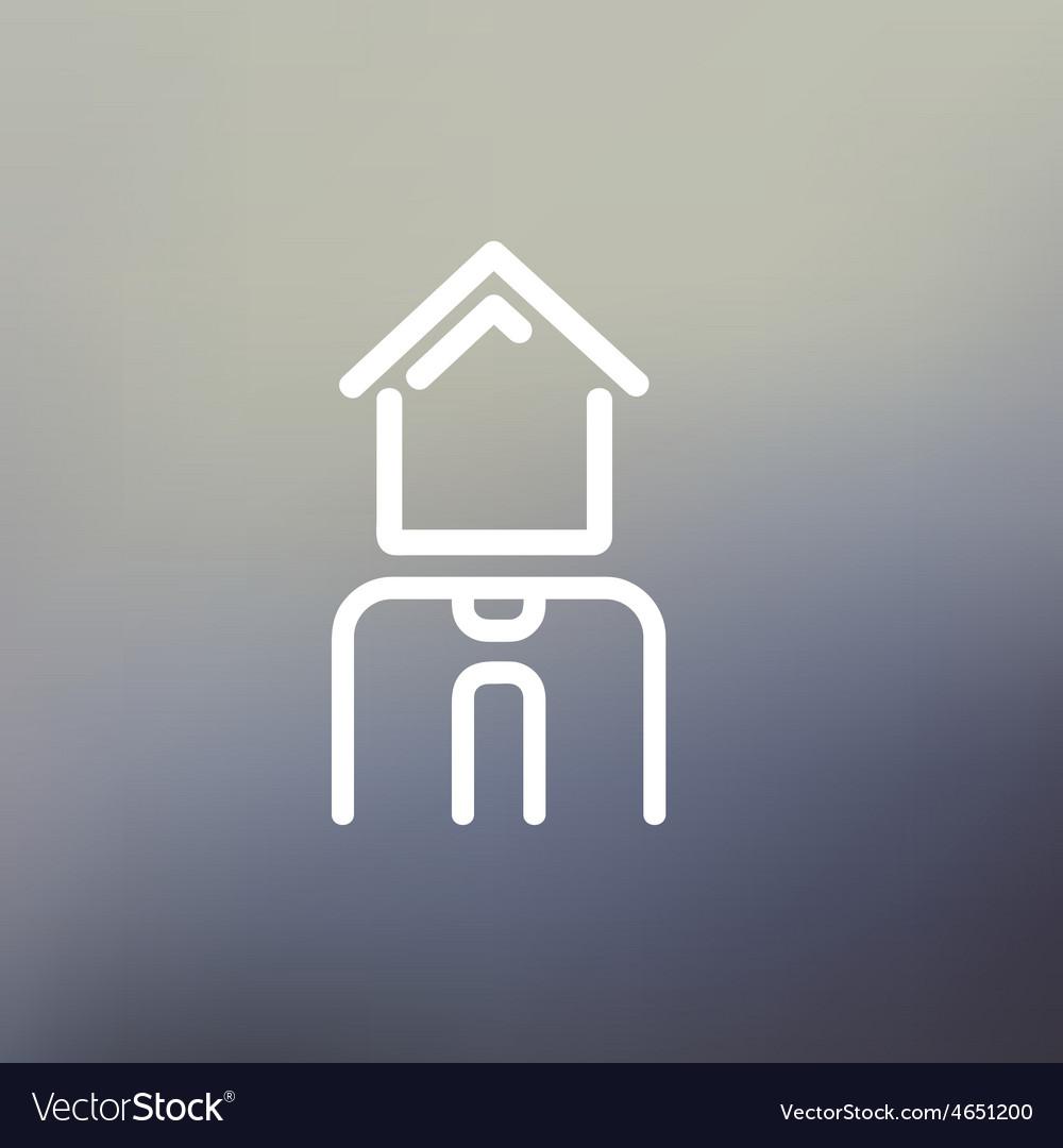 Real estate agent thin line icon vector | Price: 1 Credit (USD $1)