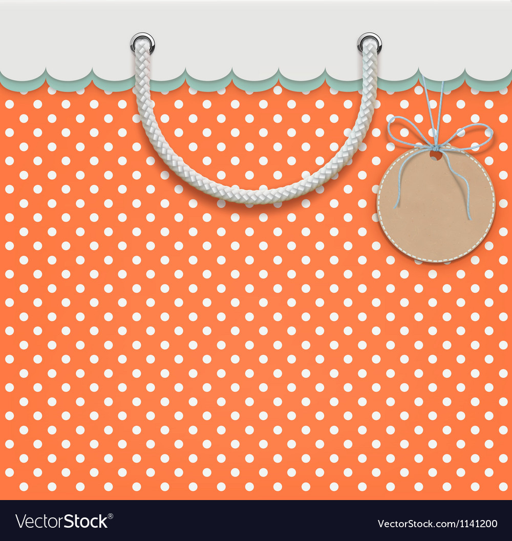 Retro paper bag vector | Price: 1 Credit (USD $1)