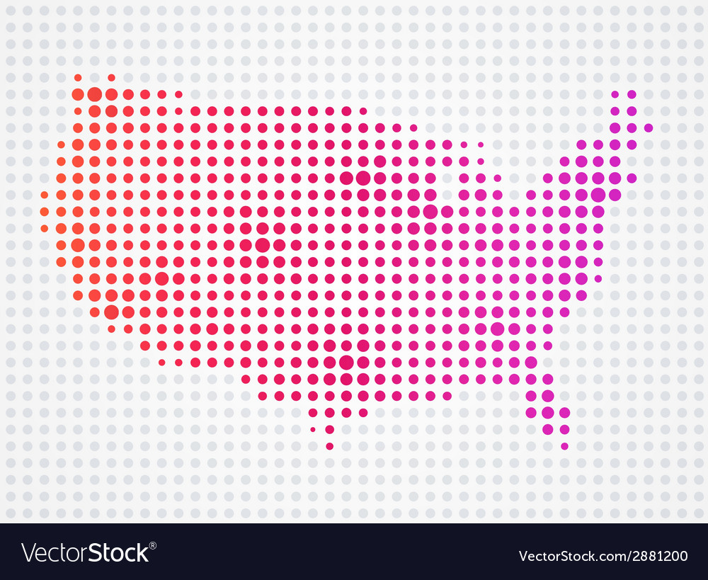 Usa dot map vector | Price: 1 Credit (USD $1)