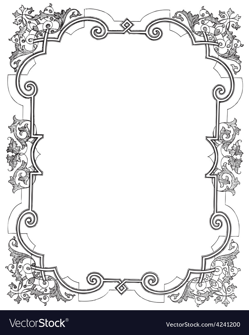 Vine frame vector | Price: 3 Credit (USD $3)