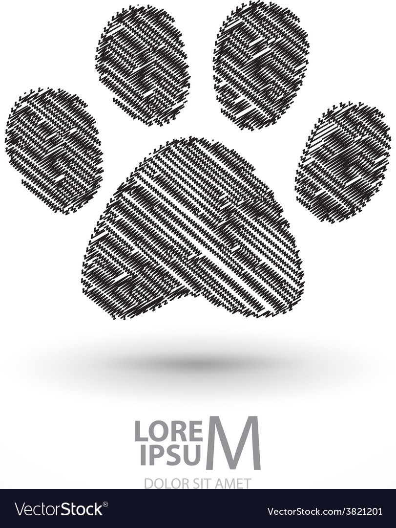 Animal footprint vector | Price: 1 Credit (USD $1)