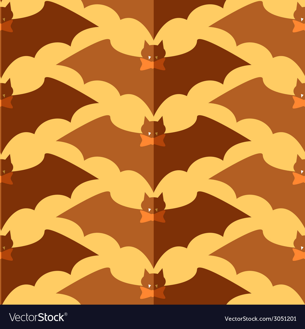 Flat bat with tie bow vector | Price: 1 Credit (USD $1)