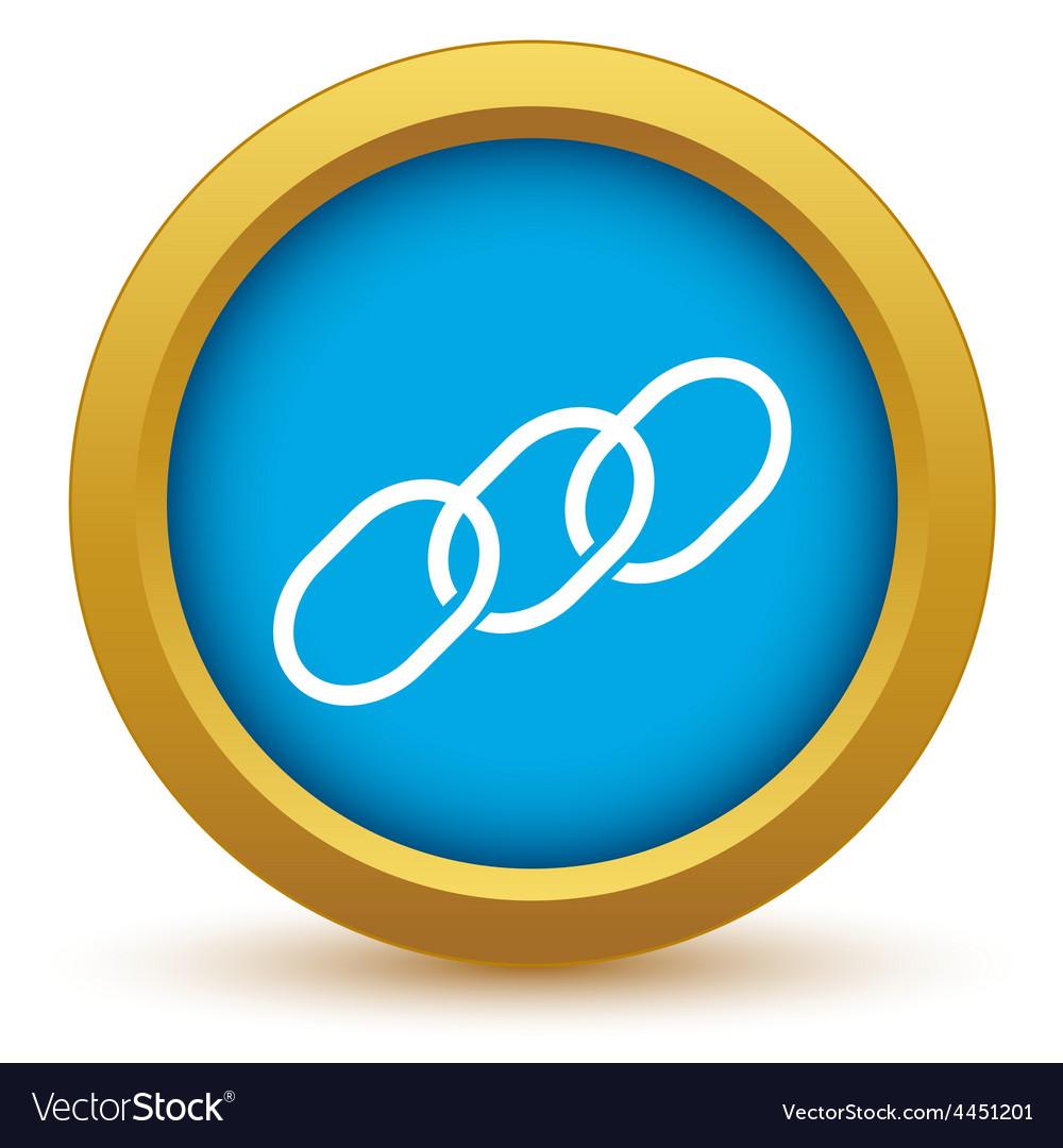 Gold chain icon vector   Price: 1 Credit (USD $1)