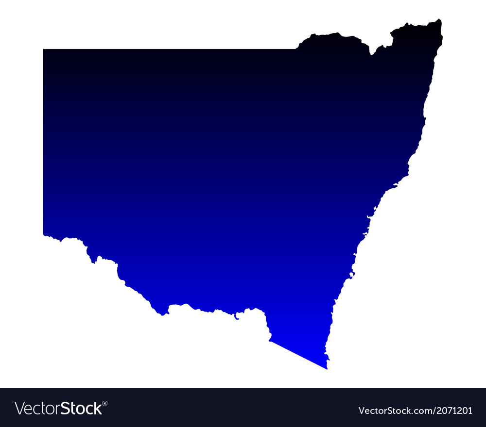 Map of new south wales vector | Price: 1 Credit (USD $1)
