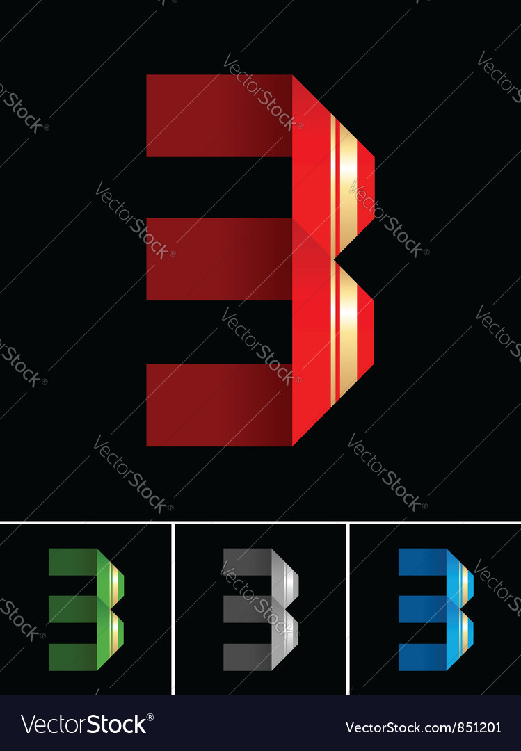 Numeral of paper tape - 3 vector | Price: 1 Credit (USD $1)