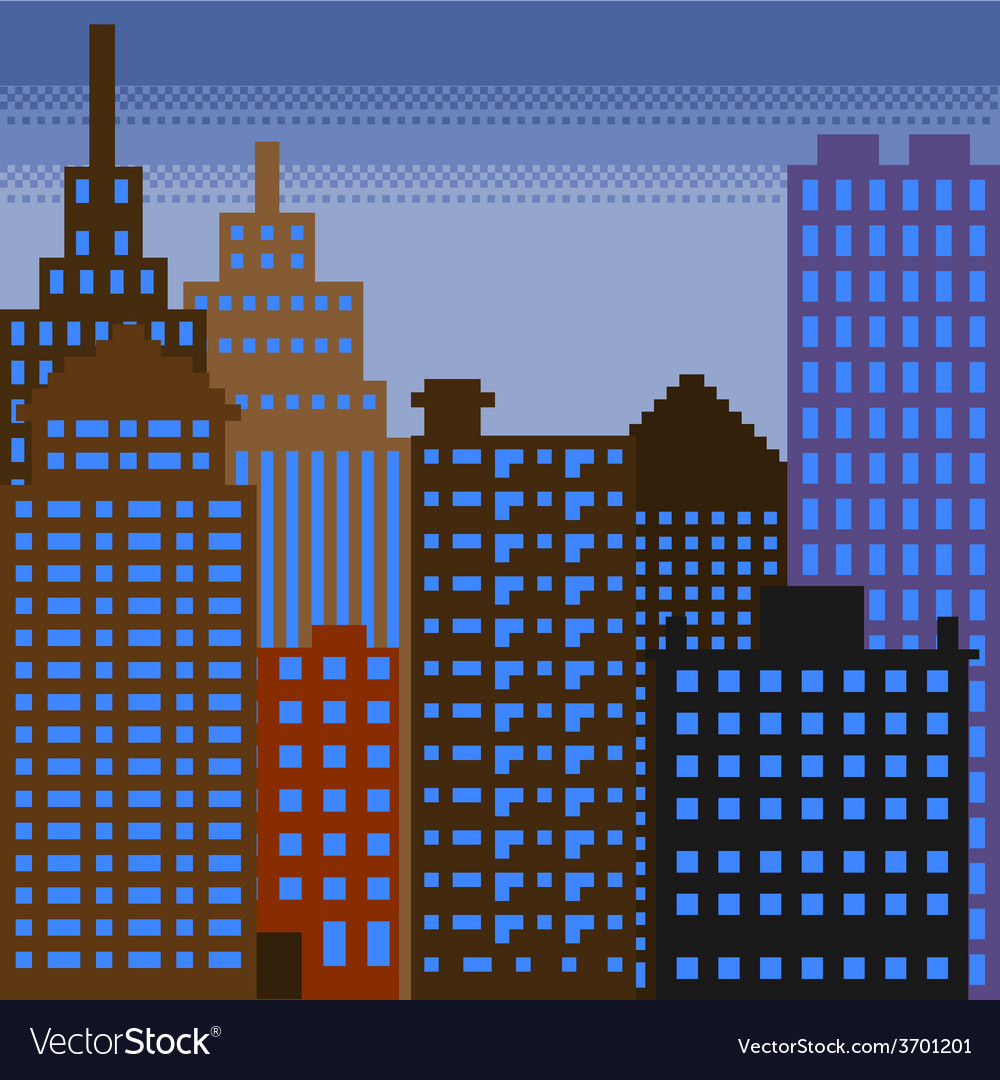 Pixel building 3 vector | Price: 1 Credit (USD $1)