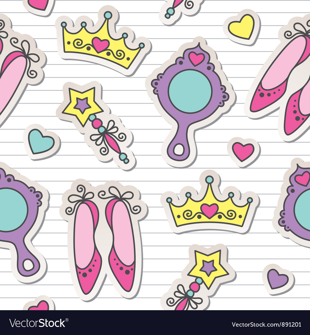 Princess pattern vector | Price: 1 Credit (USD $1)